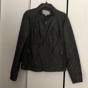 Vanity size XL grey leather jacket